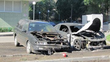 Фото сгоревших автомобилей