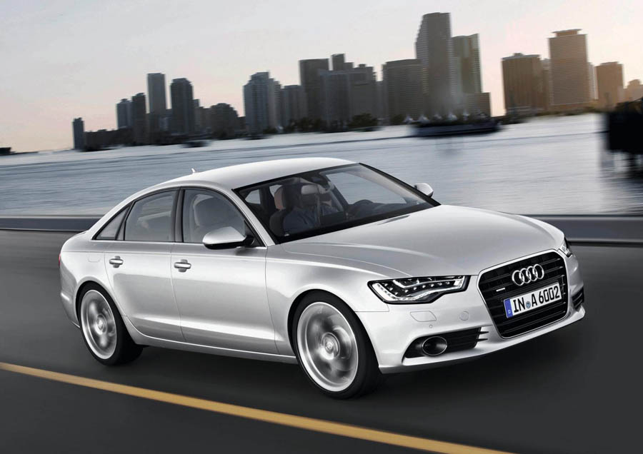 Гибрид Audi A6 официально в России.