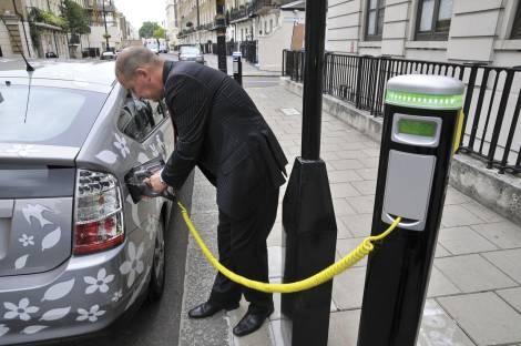 Теперь в столице, есть где подзарядить электромобиль