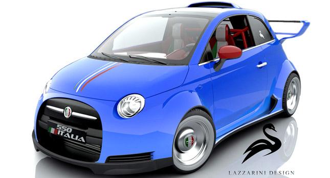 Ателье Lazzarini Desing представило смесь Fiat и Ferrari