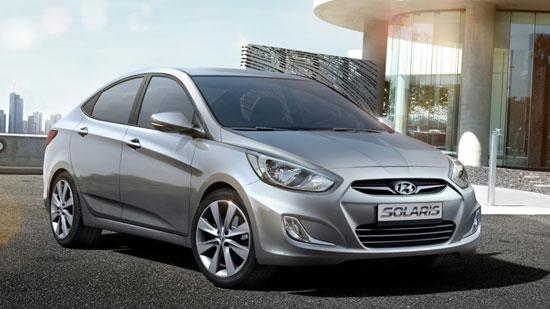 Третье место по продажам занимает иномарка Hyundai Solaris