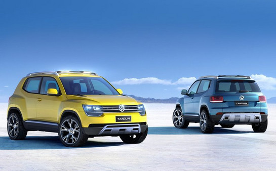 Volkswagen представил концептуальную модель компактного кроссовера - Taigun
