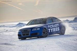Nokian продолжает бить рекорды скорости на льду с Audi