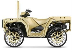 Polaris «обует» свои квадроциклы в безвоздушные шины