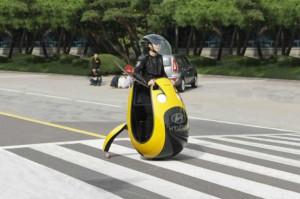Hyundai представил футуристический автомобиль в виде яйца