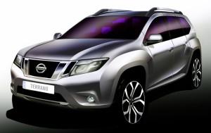 Появилось новое изображение дешевого кроссовера Nissan