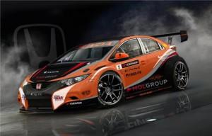 Honda приступила к тестированию болида Civic WTCC 2014