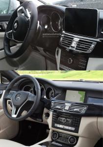 В сети появились фото салона рестайлингового Mercedes-Benz CLS
