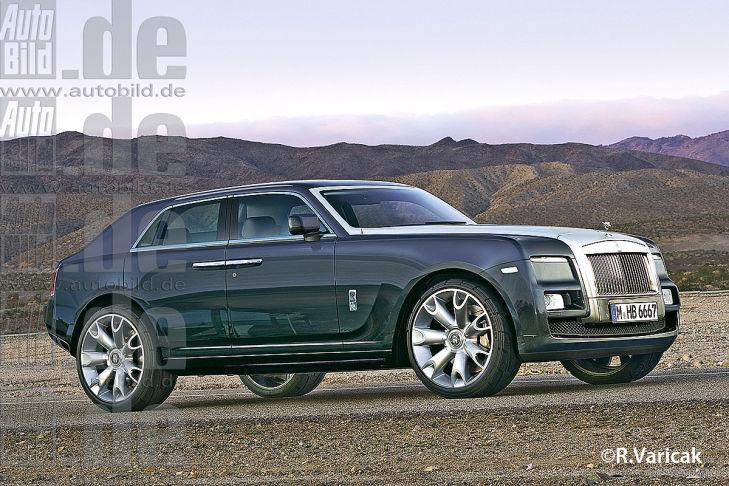 Будущий внедорожник Rolls Royce проходит под рабочим