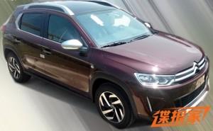 Новый кроссовер Citroen «попался» фотошпионам в Китае