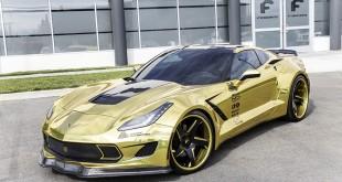 """Chevrolet Corvette Stingray """"золотой"""" тюнинг от Forgiato"""