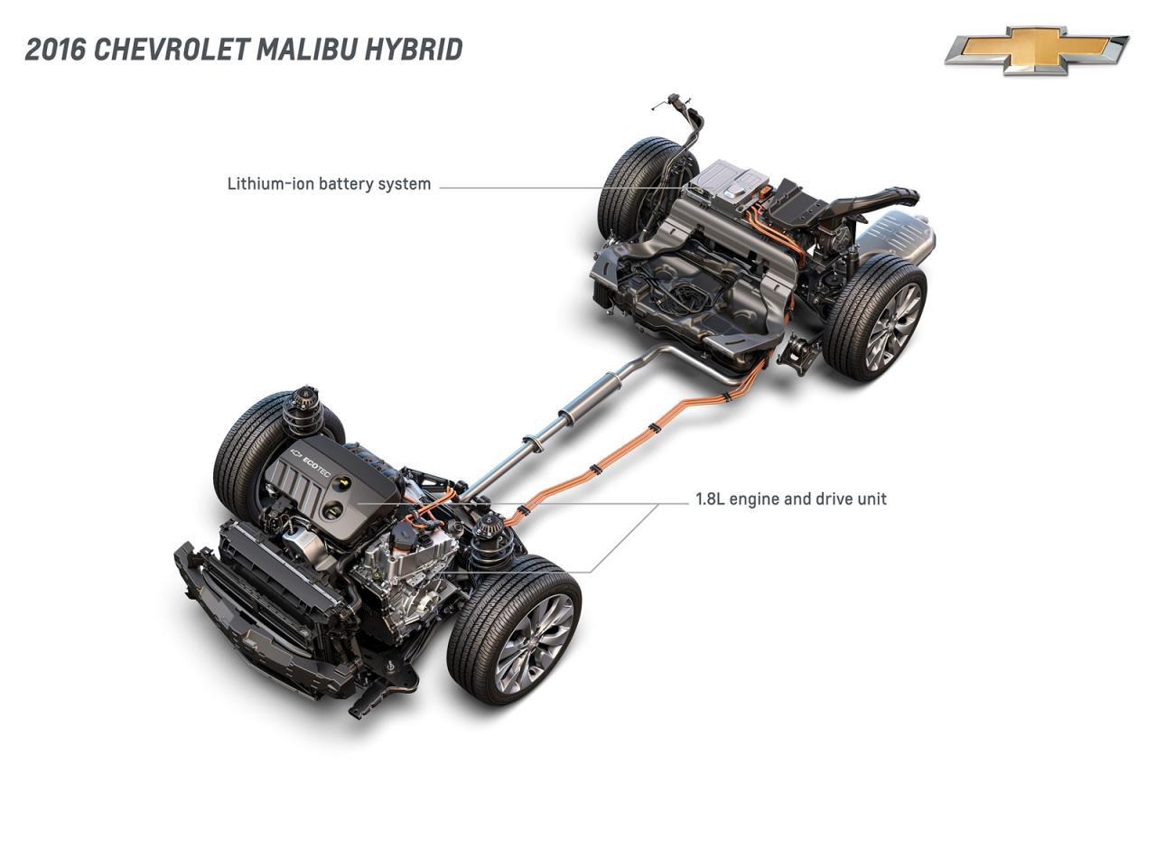 гибридный Chevrolet Malibu 2016