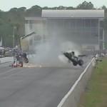 Авария драгстера на скорости 450 км/ч
