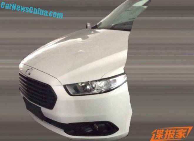 Ford Mondeo 2016 шпионские фото китайской версии