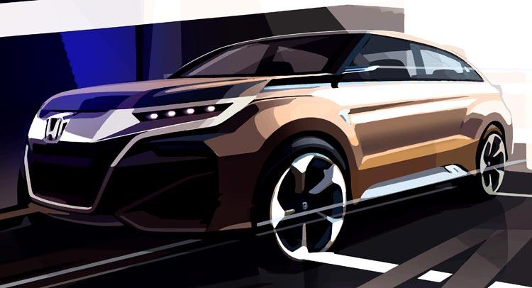 Новый концепт кроссовера Honda тизер