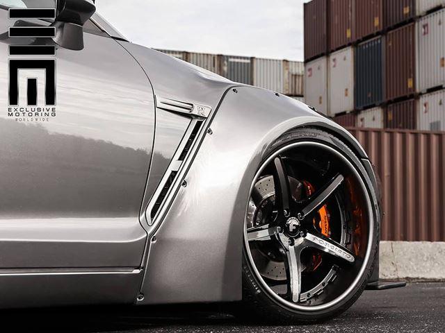 Nissan GT-R Black Edition тюнинг Liberty Walk и Forgiato