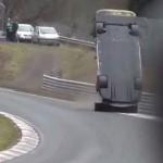 Nissan GT-R страшная авария на Нюрбургринге