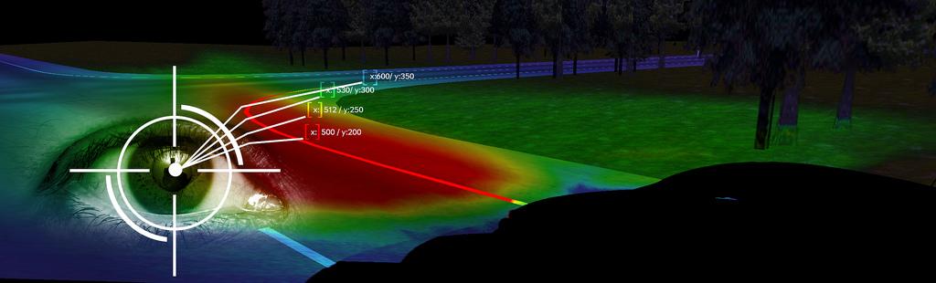 Opel технология освещения по взгляду водителя