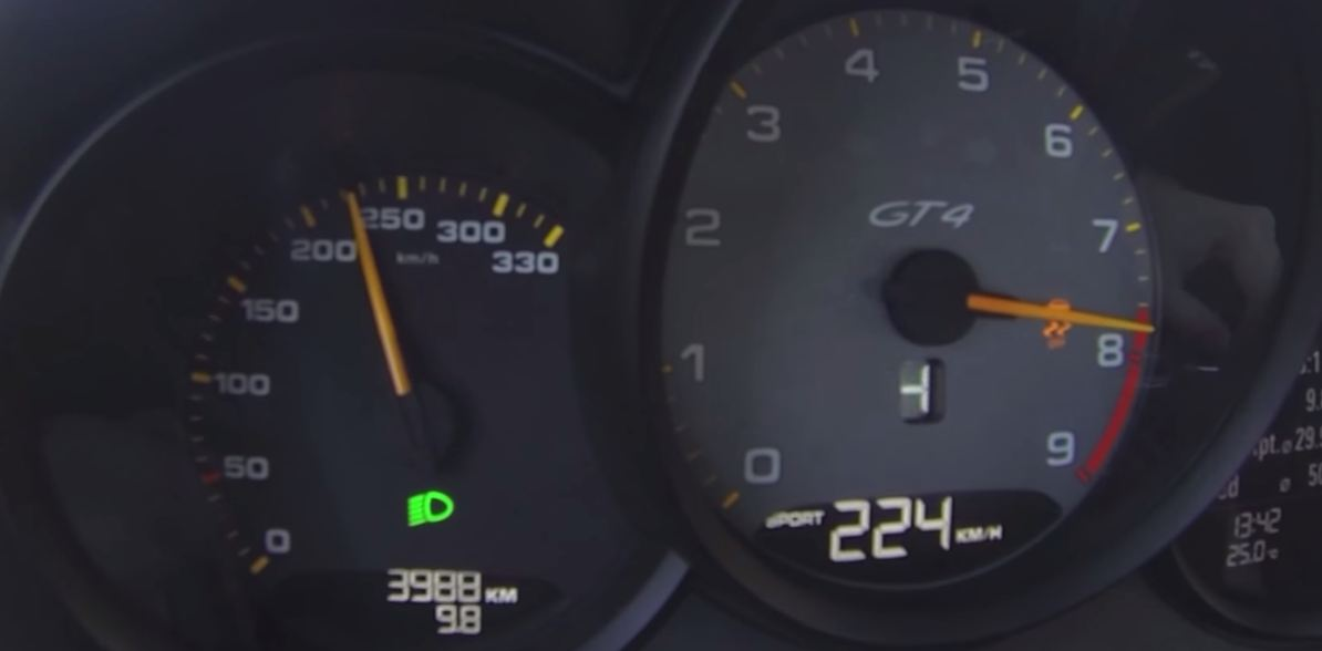 Porsche Cayman GT4 разгон
