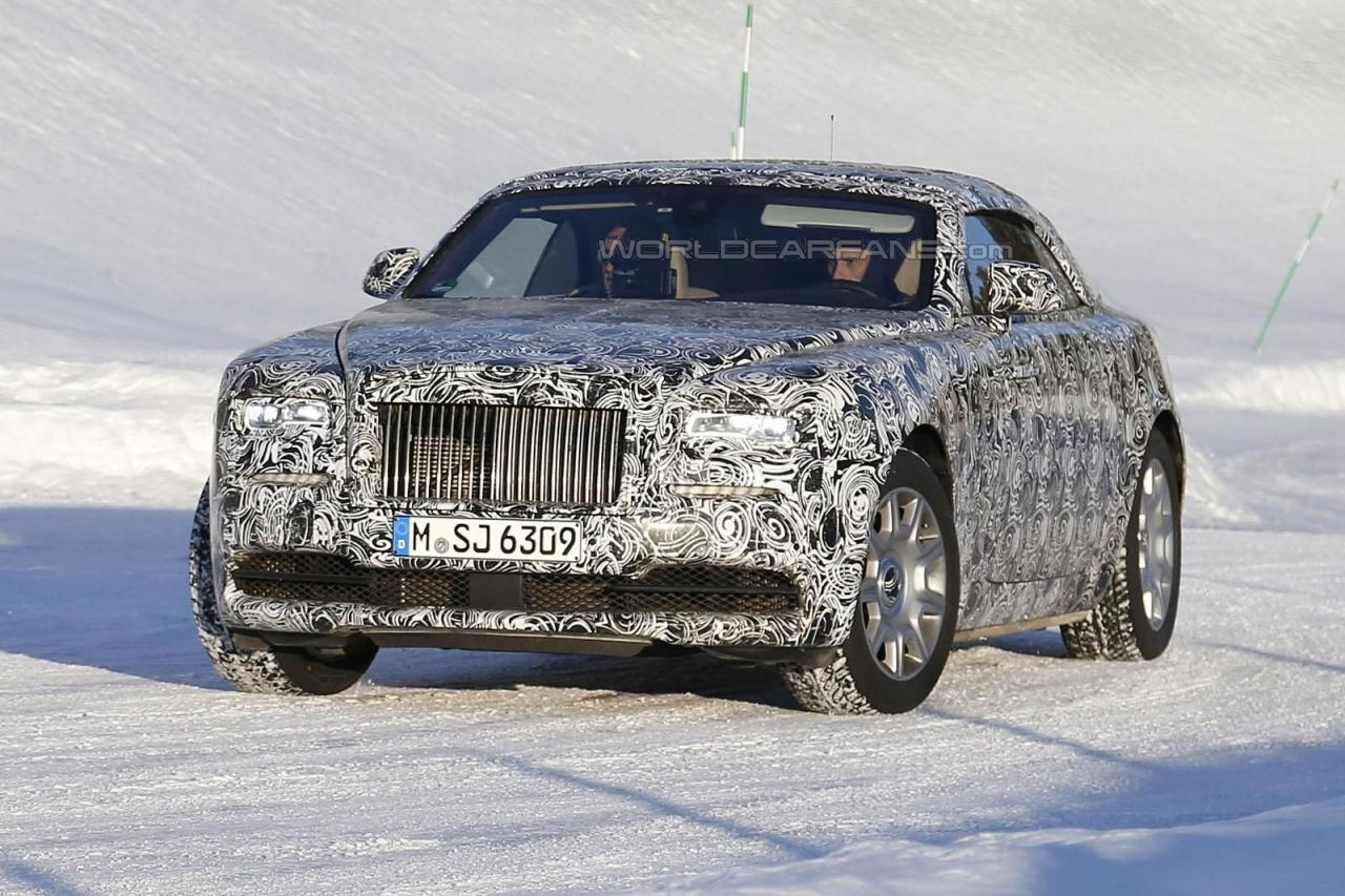Rolls-Royce Wraith Drophead купе шпионские фото