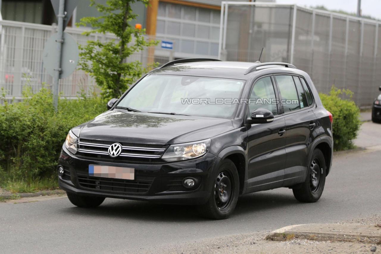 Volkswagen Tiguan 2016 тестовый мул шпионское фото