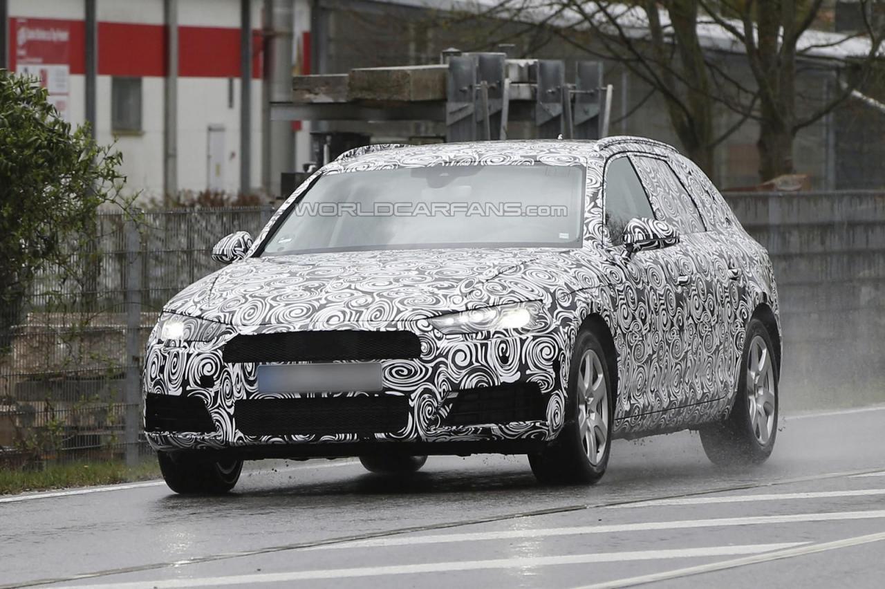 Audi A4 Avant 2016 шпионские фото