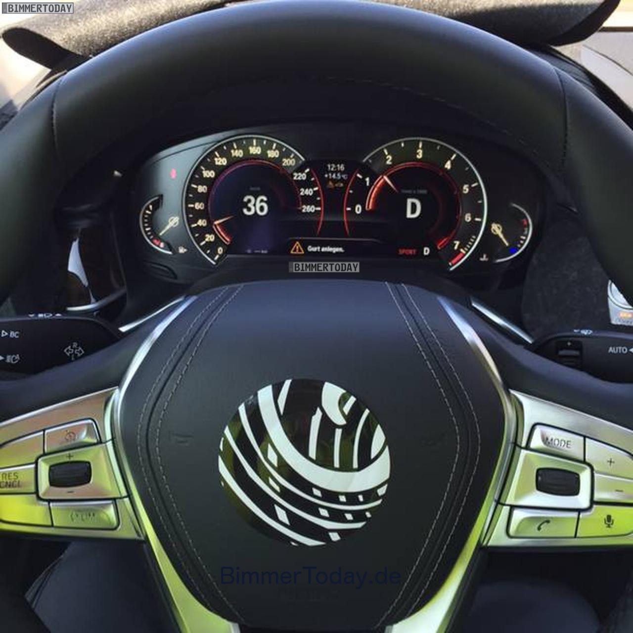 BMW 7-Series 2016 шпионские фото интерьера