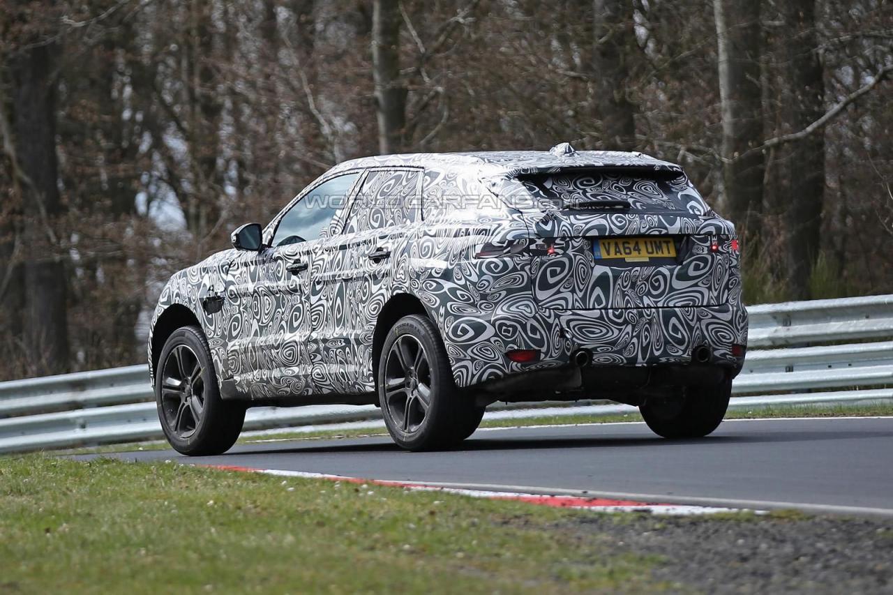 Jaguar F-Pace 2016 шпионские фото
