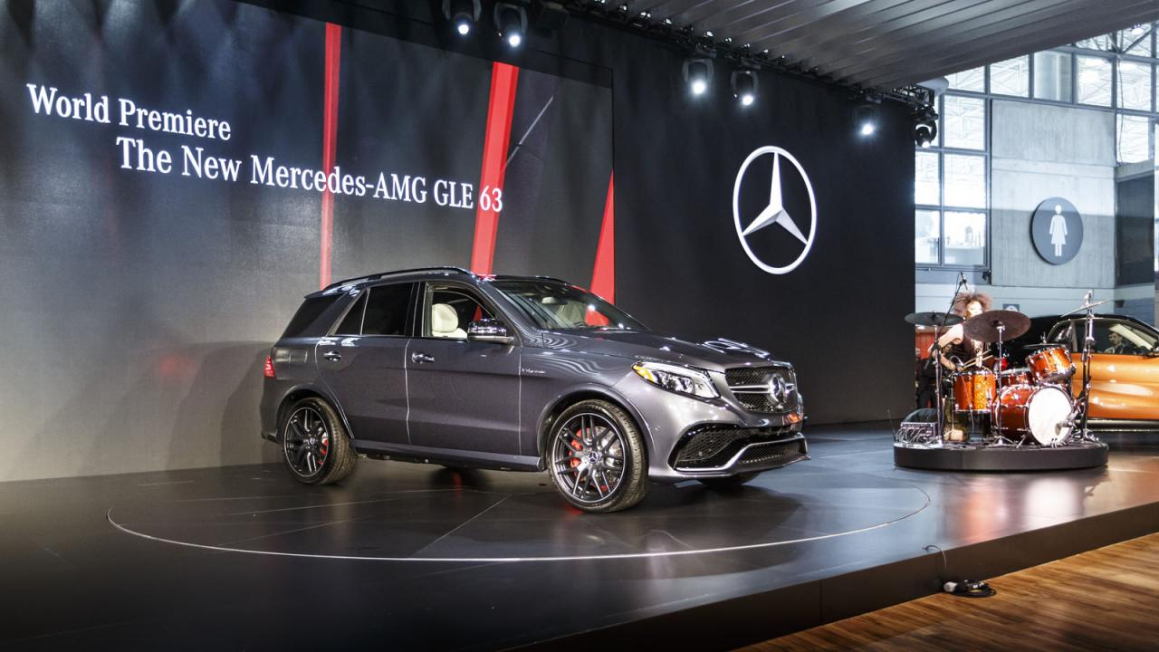 Mercedes-Benz GLE 2016 дебют в Нью-Йорке