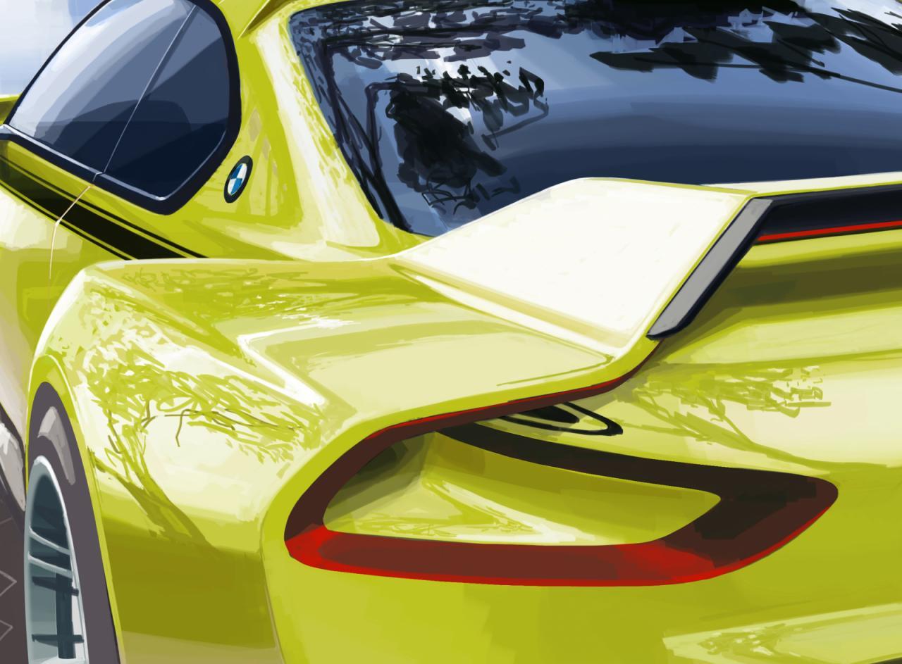 Тизер BMW 3.0 CSL Hommage Concept