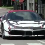 Ferrari 488 GTB шпионское видео