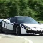 Ferrari 488 Spider шпионское видео