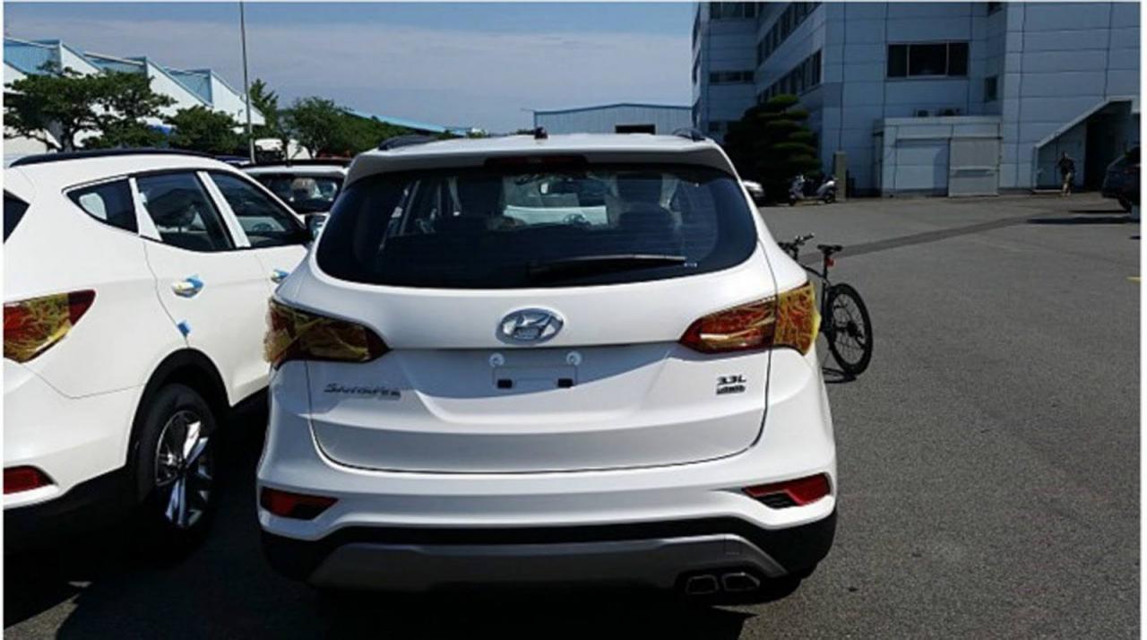 Hyundai Santa Fe обновленный - шпионское фото