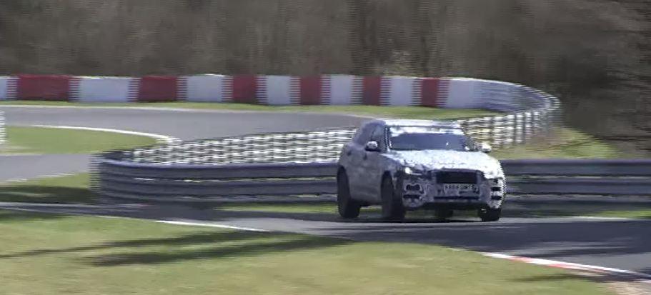 Jaguar F-Pace шпионские фото/видео на Нюрбургринге
