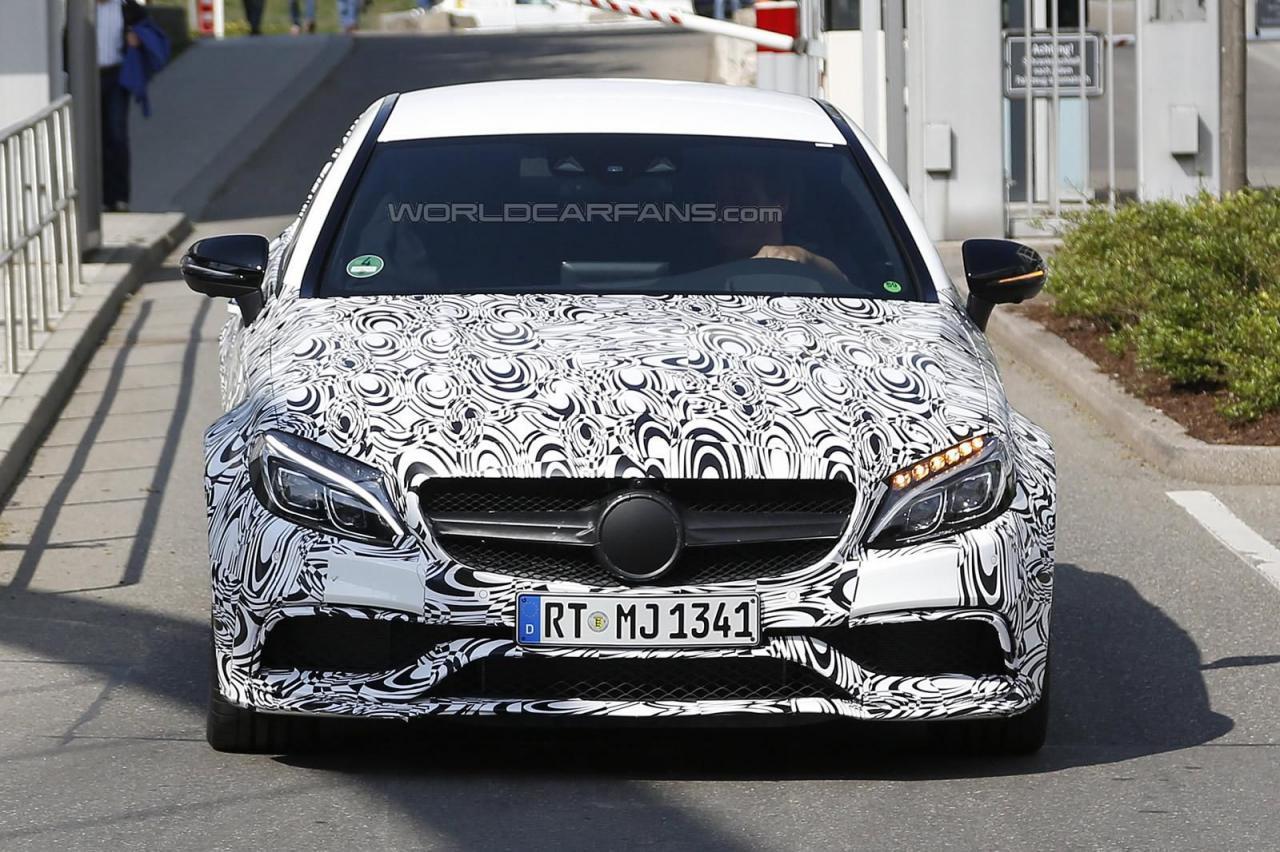 Mercedes-AMG C63 Coupe 2016 шпионские фото