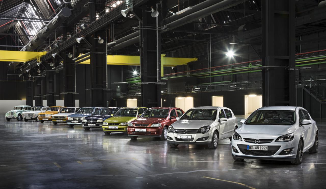 Opel Astra все 11 поколений