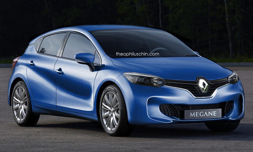 Renault Megane 2016 render Theophilus Chin