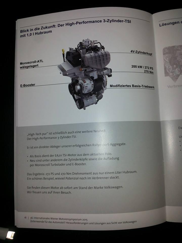 новый двигатель Volkswagen 1.0 TSI 272 л.с.
