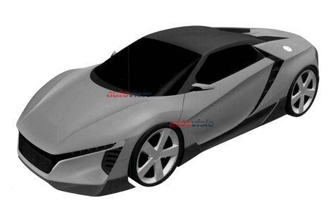 Acura / Honda sportscar paten images / патентные изображения нового спорткара