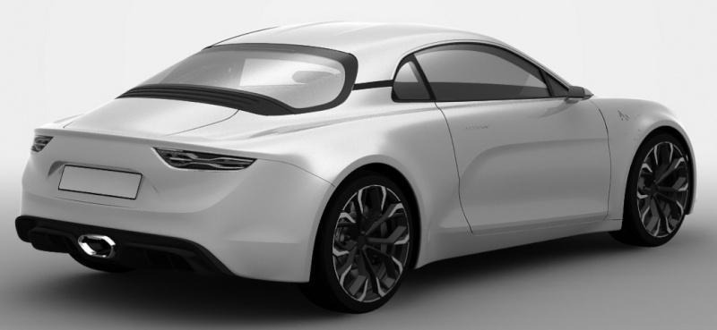 Alpine 2016 патентные фото близкого к серийной версии прототипа
