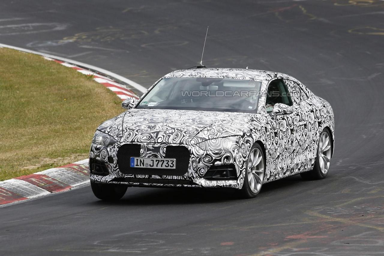 Audi A5 Coupe 2017 spy photo / шпионское фото