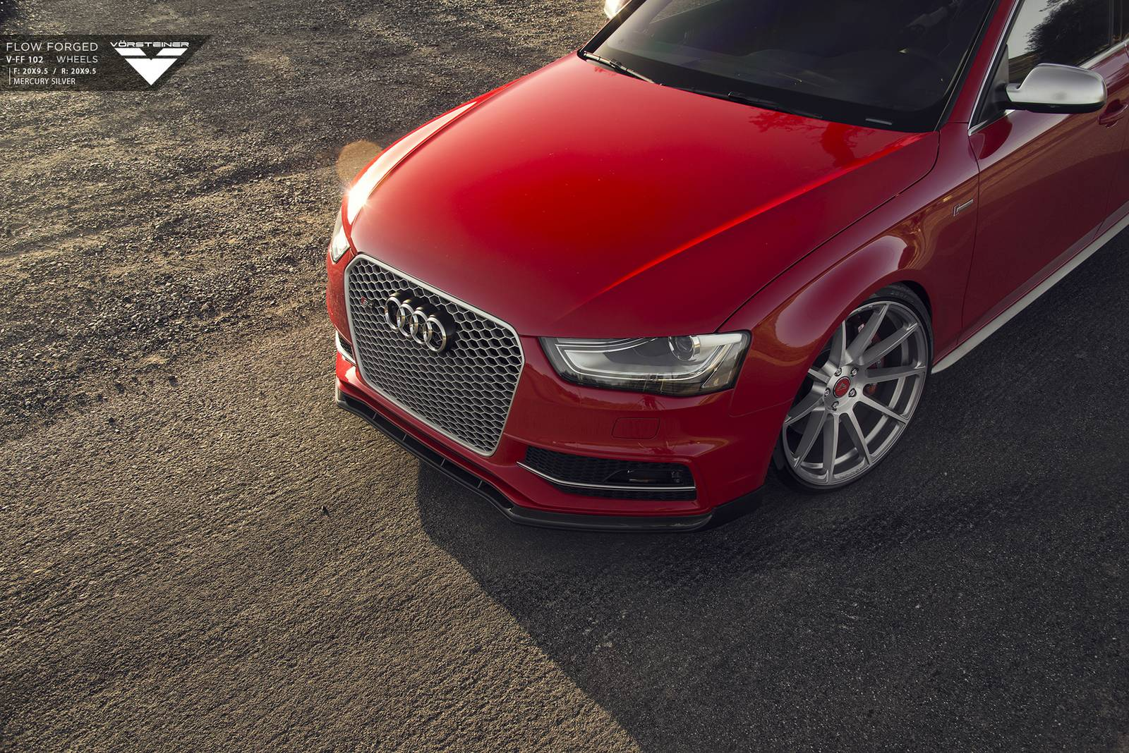 Audi S4 tuning/тюнинг Vorsteiner wheels+splitter   колеса + сплиттер