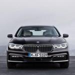 BMW 7-Series 2016 black front/черный сперееди