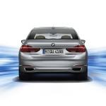 BMW 7-Series 2016 grey rear view / темно серый сзади