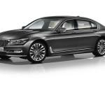 BMW 7-Series 2016 dark grey side view / темно серый сбоку