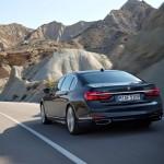 BMW 7-Series 2016 official photo/официальное фото black color back