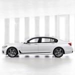 BMW 7-Series 2016 белый/white сбоку/side view