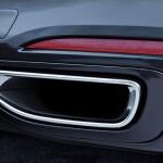 BMW 7-Series 2016 black/черный exhaust tips/выхлопные патрубки