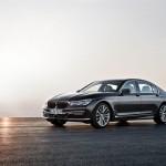 BMW 7-Series 2016 black/черный front side view /вид сбоку спереди