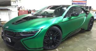 BMW i8 матовый зеленый хром от Impressive Wrap